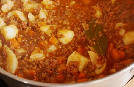 recipe, Spain, lentejas