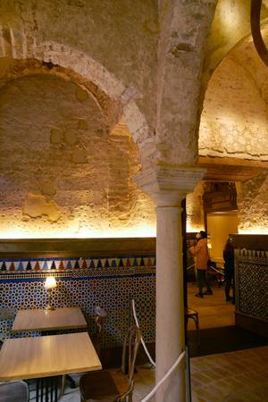 España, Andalucía, Sevilla, Bar Giralda, Almohad, baths, baños árabes