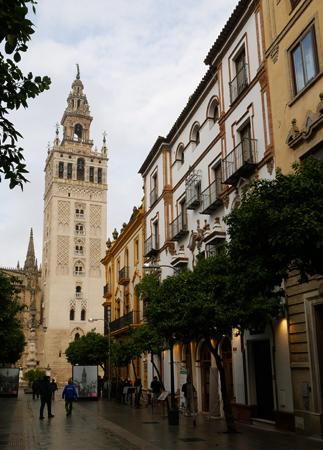 España, Andalucía, Sevilla, calle, Mateos Gago, Giralda